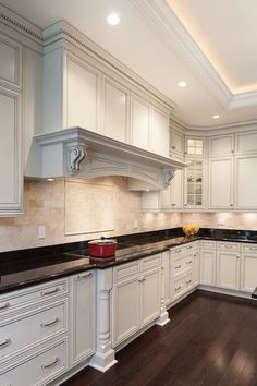 white kitchen cabinets with pewter glaze - Google Search