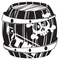 Stickers - KOMOA Design - Stickers ACCESSOIRES PIRATES Tonneau