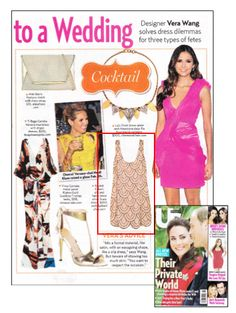 This stunning Rachel Gilbert dress was featured as a wedding must-have in the June 25, 2012 issue of US Weekly