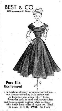 June Dress advertisement from NY Times. Vintage Advertisements, Ny Times, Advertising, June, Signs, Paper, Dresses, Vestidos, Shop Signs