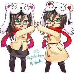 pole bear male and female Pole Bear, Gender Bender, Bear Art, Five Nights At Freddy's, Chibi, Anime, Manga, Female, Comics