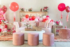 At-Home Bridal Shower Tips for Galentine's Day and Beyond - Perfete Shower Tips, Monogrammed Napkins, Traditional Games, Acrylic Box, The Balloon, Pink Velvet, Perfect Party, Pink Roses, Valentines Day