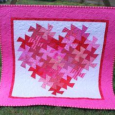 Twisting Heart Valentine Quilt