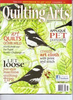 Joan Sowada, Art Quilt, quilting arts magazine, portrait quilt ... : quilt art magazine - Adamdwight.com