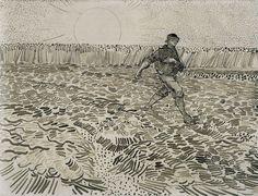 Research: Van Gogh pen & ink drawing Van Gogh Drawings, Van Gogh Paintings, Ink Pen Drawings, Drawing Sketches, Sketching, Vincent Van Gogh, Gustav Klimt, Van Gogh Zeichnungen, Desenhos Van Gogh
