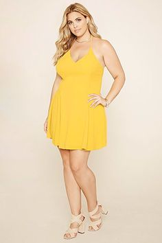Plus Size Caged Cami Dress