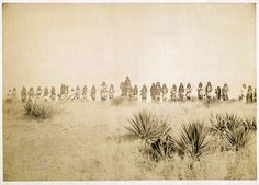 Geronimo and his warriors. One of the only known photos of Indian combatants still in the field who had not yet surrendered to the United States. C. S. Fly, March 1886
