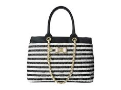 BETSEY JOHNSON Shopper Quilted Design Chain Strap -New Authentic #BetseyJohnson #TotesShoppers
