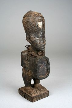 Power Figure: Male (Nkisi) | 19th–20th century | Democratic Republic of the Congo, Kongo peoples | Wood, glass, metal, cloth, organic matter