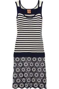 Tory Burch | Debbie crocheted and ribbed cotton dress | NET-A-PORTER.COM