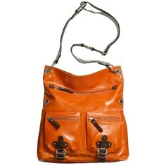 Tano bag: Mona Letha in carrot with brown trim from Must Have Bag.