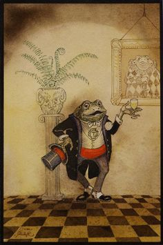 Champagne Toad from Wind in the Willows - Charles van Sandwyk