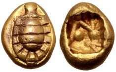 Ionia, uncertain mint EL Hekte struck circa 600-550BC Turtle/ Incuse Punch
