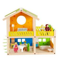 Hape Toys Happy Villa Dollhouse - Toy Dollhouses at Doll Houses Galore