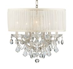 This chandelier with Swarovski Spectra Crystals is stunning!