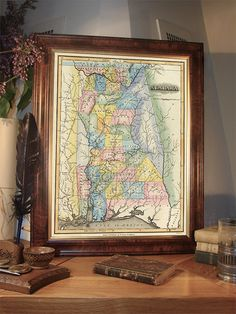 Old map of Alabama   Wonderful reproduction of by AncientShades