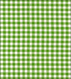 Gingham - Lime Oilcloth Fabric
