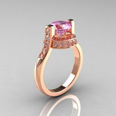 Rose Gold Engagement Rings With Pink Diamond 36