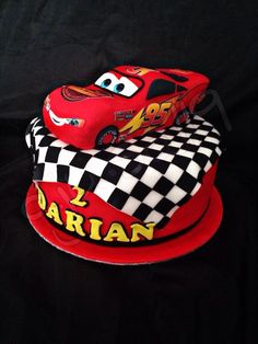 Cars - Cake by Latest Birthday Cake, Dad Birthday Cakes, Cars Birthday Parties, Disney Cars Cake, Disney Cars Party, Lighting Mcqueen Cake, Cars Cake Design, Lightning Mcqueen Party, Race Car Cakes