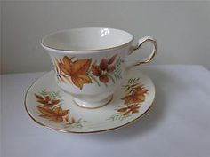Queen Anne Fall leaves cup saucer