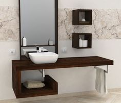 Sale on-line wash basin shelf - solid wood - customized shelf - bathroom furniture - available in 4 types of natural solid wood Bathroom Design Luxury, Modern Bathroom, Small Bathroom, Washbasin Design, Dressing Table Design, Kitchen Room Design, Bathroom Basin, Bathroom Renovations, Bathroom Furniture