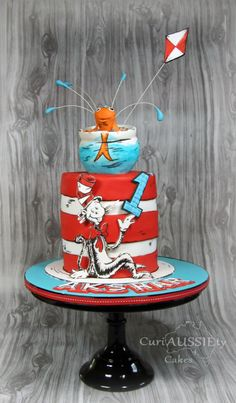 Dr Seuss Cat in the Hat! - Cake by curiAUSSIEty custom cakes