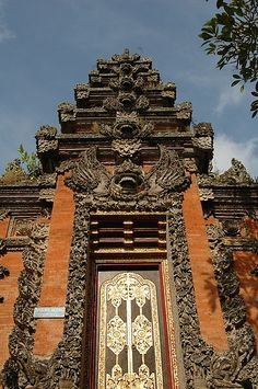 Temple entrance in Ubud, Bali - Indonesia