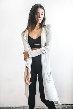 Joah Brown Soleil Cardigan in Chalk Sweater Knit Front View Lazy Day Outfits, Brown Outfit, Brown Fashion, Women's Fashion, Sporty Chic, Long Cardigan, Looking For Women, Capsule Wardrobe, Lounge Wear