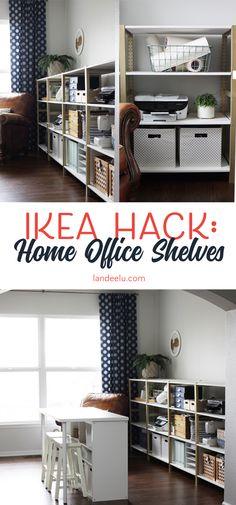 IKEA Hack: IVAR Home Office Shelves