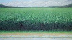 "Verdant Growth, 2012, egg tempera on panel, 40.5"" x 72""  from fellow pinterester@Nathan DiPietro"