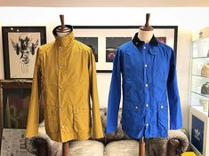 The washed Bedale jacket from @barbour - available in mustard or cobalt blue for the spring/summer season. In store now and online soon priced 199.  #barbour #bedale #jacket #outerwear #classic #mustard #heritage #menswear #mensstyle #mensfashion #style #styleoftheday #newseason #ss18 #philipbrownemenswear