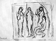 "Study To ""Girls From Avignon"" 1906 Pablo Picasso"