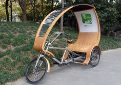 Electric Powered Bamboo Tricycle