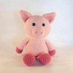 Toy Pig Amigurumi Pig Crochet Pig Plush Pig Farm by MWHandicrafts