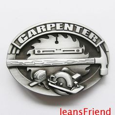 Carpenter Hammer Saw Tools Hard Hat Belt Buckle Easy Woodworking Ideas, Woodworking Logo, Woodworking Crafts, Carpenter Tool Belt, Carpenter Tools, Router Projects, Belt Online, Cool Pins, Logos