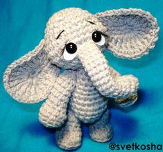 Amigurumi elephant. (Inspiration only).
