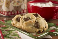 When a regular chocolate chip cookie won't cut it, reach for one of our Ultimate Chocolate Chunk Cookies. These cookies are perfect for dunking in a tall glass of milk. Cookie Desserts, Cookie Bars, Bar Cookies, Brownie Recipes, Cookie Recipes, Apple Crescent Rolls, Chocolate Chunk Cookies, Fudgy Brownies, Vegetarian Chocolate