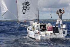 Superbe victoire ! Aymeric Belloir s'impose en série sur la Mini Transat 2013 ! BravOOO #MiniTransat #Guadeloupe #Sail #Boat   www.scanvoile.com