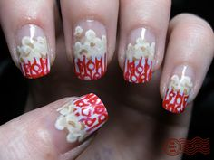 Popcorn Nails #nails, #fashion, https://facebook.com/apps/application.php?id=106186096099420