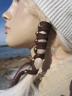Abrigo del pelo BOHO ropa cuero lazos sostenedor del Ponytail