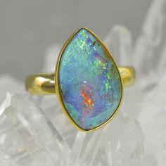 Boulder Opal Ring #opalsaustralia