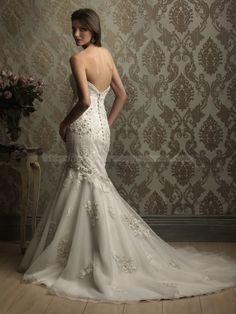 Mermaid wedding dress #wedding #dress #lace