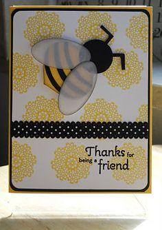 bumble bee yellow card invitation - tarjeta de invitacion abeja ♛
