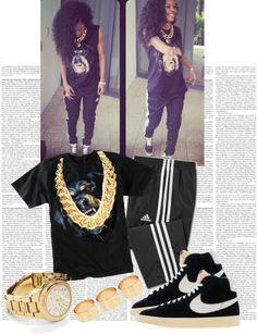 """Style Inspired : Teyana Taylor"" by cheerstostyle ❤ liked on Polyvore"
