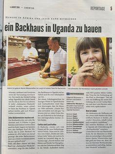 """Wir bedanken uns bei Ingeborg Jakl für den interessanten Artikel über die #Caritas-Aktion """"Ein Brotofen für 🇺🇬 #Uganda"""" und die #Sattmacherweckerl der #Brothandwerker im der Zeitschrift #Sonntag 🗞.  Bitte lesen (einige Exemplare liegen auch bei uns zur freien Entnahme auf) und im #August #Kornbeisser essen ..... und zwar viiiiieeeeeele davon!!! 😋"""