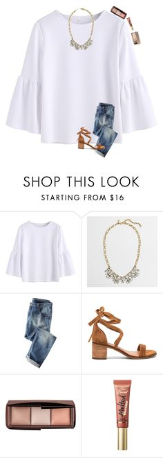 """""""more like February weather today.. but I've been loving the 70 degrees weather!"""" by preppinessandpearls ❤ liked on Polyvore featuring J.Crew, Wrap, Steve Madden, Hourglass Cosmetics, Too Faced Cosmetics and Urban Decay"""