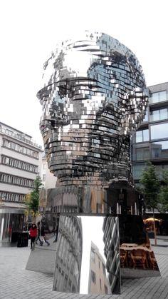 Statue of Franz Kafka - Prague, Czech Republic