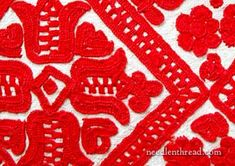 Free Hand Embroidery Pattern: Hungarian Redwork
