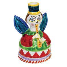 Ceramiche De Simone - Candelabras & Candle Holders - Sicilian Ceramic (Pottery) - ANG341PC - Angelo
