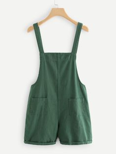 Pocket Front Denim Overalls | SHEIN